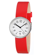 Record By Achille Castiglioni 30mm Red & White Design Ladies Watch