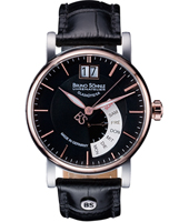 Pesaro I  43mm Black & Rose Watch with DayDate