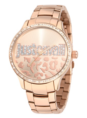 Huge 42mm Rose Gold Ladies Watch with Crystals
