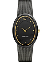 27mm Oval Black Ladies Design Watch