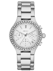 Chambers Silver & Crystals Multifunction Ladies Watch