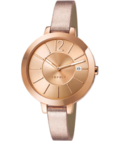 Amelia  34mm Rose Gold Ladies Watch with Date & Thin Strap