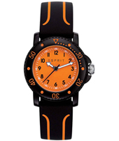 Diving club Black & orange children's dive style watch