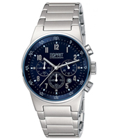 Equalizer  39mm Silver & Blue Metal Chronograph
