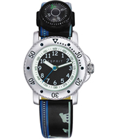 Savanna trek Black children's watch with compass