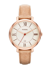 Jacqueline 36mm Rose Gold & Beige Ladies Watch