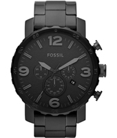 Nate  49mm Large All Black Chrono with Date