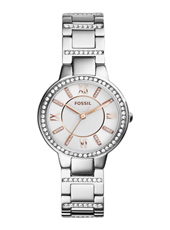 Virginia 30mm Silver Ladies Watch with Crystals