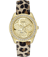 Cena 40mm Gold Ladies Watch with Panther Strap