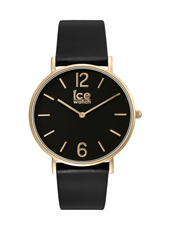Ice-City Black Gold 36mm 36mm Thin Ladies Quartz Watch