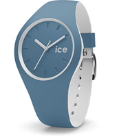 Ice-Duo 41mm Blue & White Silicone Watch