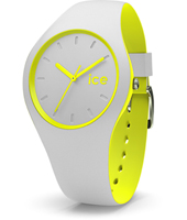 Ice-Duo 41mm Light Grey & Yellow Silicone Watch