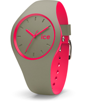 Ice-Duo 41mm Khaki & Pink Silicone Watch
