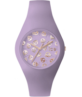 Ice-Skull Lilac watch with skull dial and silicone strap