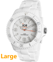Ice-Solid White watch size Big
