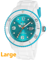 Ice-White White & Turquoise watch size Big