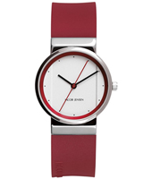 766 New Line 28mm Red & White Lady Design Watch
