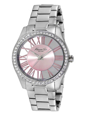 C Thru Me 40mm Silver & Pink See Through Watch with Roman Numerals
