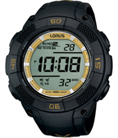 51mm Black & Gold Digital Chronograph