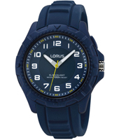 39mm Blue children's watch with rubber strap