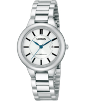 30mm Steel & White Ladies watch with date