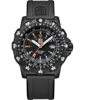 Black Ops Recon 45mm Black Carbon Watch with Date & Sapphire Crystal on Rubber Strap