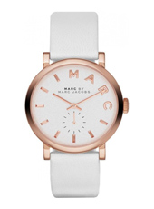 Baker 36.50mm White & Rose Gold Petite Seconde Ladies Watch