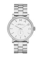 Baker  36.50mm Silver Petite Seconde Ladies Watch