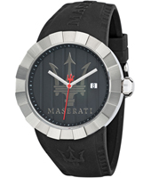 Tridente  Black & Steel Watch with Large Trident Logo