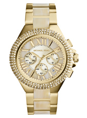 Camille 43mm Large Gold & Ivory Ladies Chrono