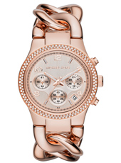 Runway Twist 38mm Rose Gold Ladies Chrono with Date