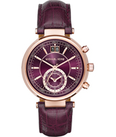 Sawyer 39mm Rose gold & aubergine chrono with big date