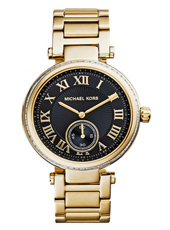 Skylar Classic gold & black ladies watch with small second