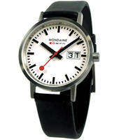 Classic Gent 33mm Matte Swiss Railway Watch with Big Date
