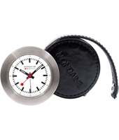 Travel Clock 48mm Travel Clock in Leather Case