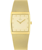 V102  27mm Square Gold Ladies watch, Mesh strap