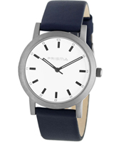 Mr. Feelin' Good 38mm Titanium watch with blue leather strap