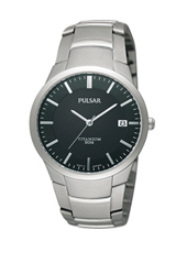 PS9013 36.50mm Titanium & Black Gents Watch with Date
