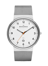 Ancher Large 40mm Relógio Clássico Milanese Homem