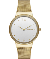 Freja New Large 34mm Relógio mulher ouro Milanese