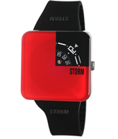 Squarex  Red & Black Square Design Watch