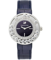 Lovely Crystals Aubergine Ladies Fashion Watch with Crystals