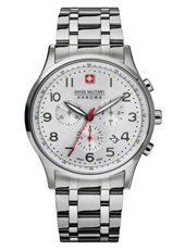 Patriot 41.50mm Silver Swiss Made Chronograph with Date