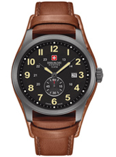 Trooper 43mm Black & Brown Swiss Made Watch with Date