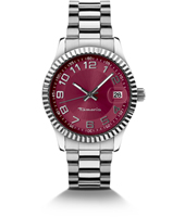 Debby Silver Ladies Watch with Date