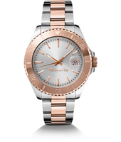 Marina Bicolor Rose Gold Watch with Date