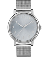 Easy Reader  38mm Silver Dial Mens Watch Mesh Strap