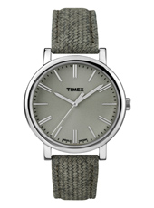 Originals  38mm Silver & Grey Watch Textile/Leather Strap