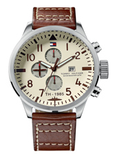 Jackson  46mm Steel & Brown Month/Day/Date Gents Watch