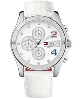 Moab  44mm White & Steel Month/Day/Date Ladies Watch